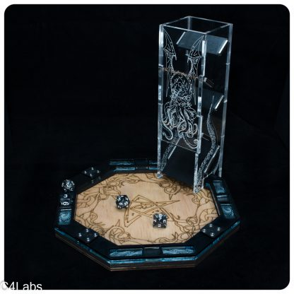 Cthulhu Dice Tower in Black