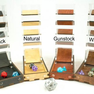 Acrylic Dice Tower with matching tray