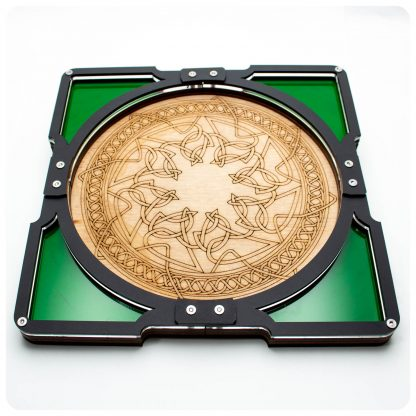 Celtic Party Tray with Emerald Dice Pockets