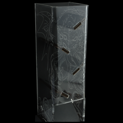 cthulhu etched dice tower