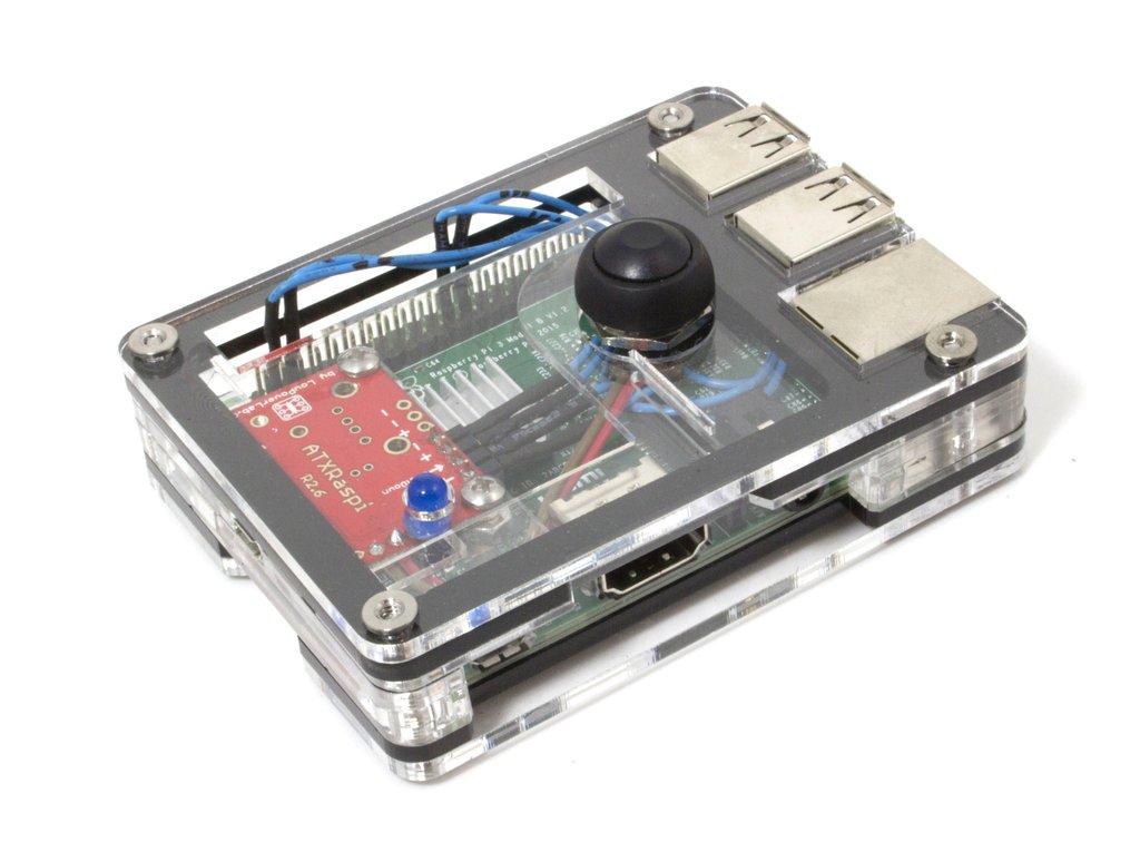 Zebra power button case raspberry pi b black ice