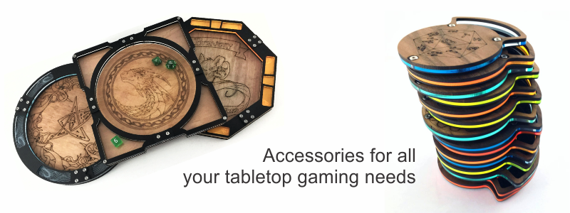 Dice Trays and Dice Coasters
