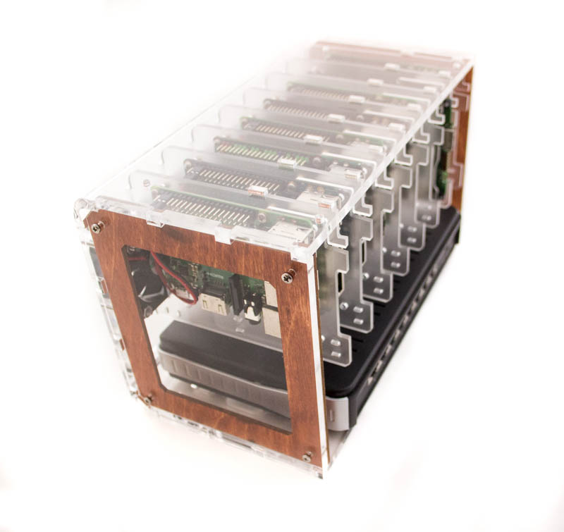 8 Slot Cloudlet Cluster Case - Raspberry Pi 4B, 3 B+, and other single  board computers ~ Color Options