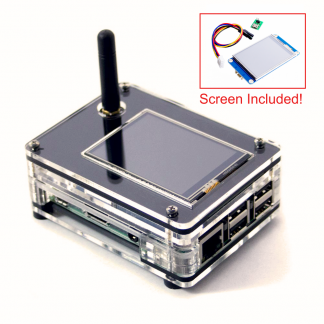 "ZRPi-1NSX case for Raspberry Pi 3 B+, ZUMspot MMDVM, and 2.4"" Enhanced Nextion Screen"