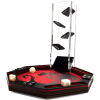 Octagon dice tray red dragon print and velvet dice tower